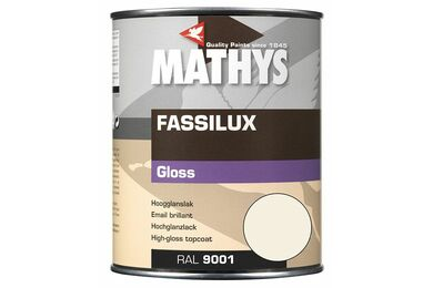 MATHYS Fassilux Gloss Crème WitRal 9001 1Ltr