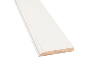 Q-Pine Grenen Plint Luxe QP13 wit Afgelakt FSC 15x115x4800mm