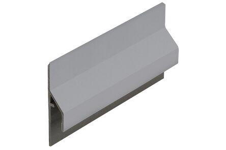 keralit aansluitprofiel trim/kraal 2843 ral 7001 grijs classic 6000mm