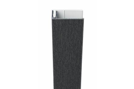 protex aluminium eindprofiel 2-delig antraciet ral 7016 3000mm