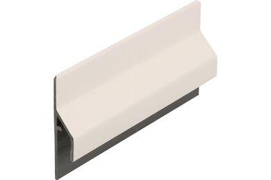 KERALIT 2843 Trim/Kraal Aansluitprofiel 10mm Wit Classic Nerf 6000mm