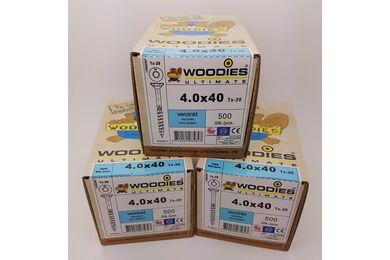 WOODIES Ultimate Schroef Verzonken Kop Torx T20 4,0x40/24mm Verzinkt