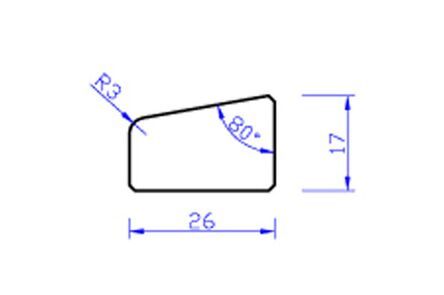 Meranti glaslat gevingerlast a12 80mu gegrond  17x26x4000