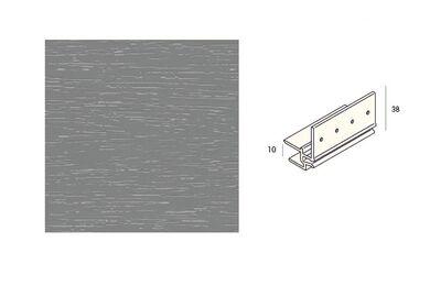 KERALIT 2867 Dakrandmontageprofiel 10mm Grijs Classic Nerf 6000mm