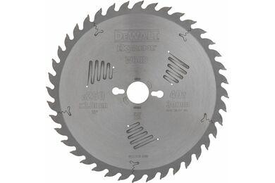DEWALT DT4322-QZ Cirkelzaagblad 40-tands 250x30mm