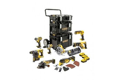 DEWALT DCK853P4T-QW XR 8-Delige Accu Machine Set DCK853P4T-QW 18V 4x5,0Ah in Koffers