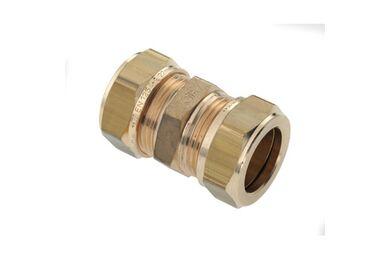 Knelkoppeling Messing 12x12mm