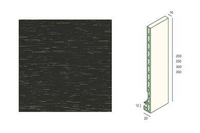 KERALIT 2821 Dakrandpaneel 200mm Antraciet Classic Nerf 10x200x6000mm
