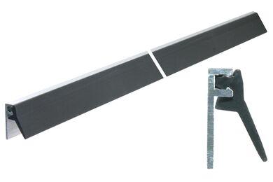 ELLEN Inbouwprofiel Binnen-/Buitendraaiend AIB4-N-AR Zwart Aluminium Met PVC 2300mm