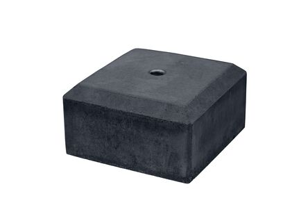 betonpoertegel m16 met velling antraciet 180x180x100mm