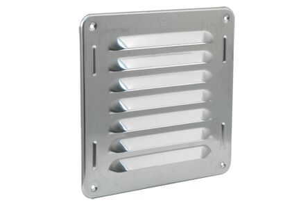 schoepenrooster aluminium 160x160mm naturel