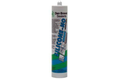DEN BRAVEN Silicone-NO + Sanitary Zilvergrijs 310ml