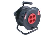 Kabelhaspel Zwart/Rood PVC 3x1,5mm2 40000mm