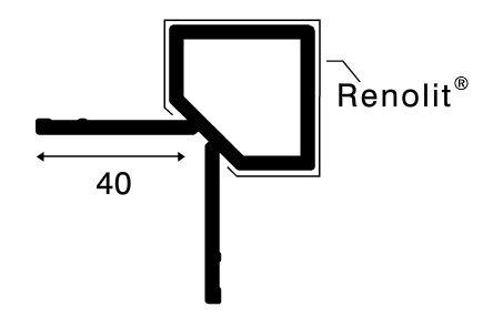 keralit hoekprofiel uitwendig 2828 antraciet 7016 4000mm