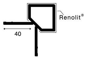 keralit hoekprofiel uitwendig 2828 staalblauw 5011 4000mm