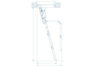 KEYLITE Zoldertrap 4-delig 30 Minuten Brandwerend KYLF-03 550x1200x3200mm