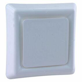 starx afzuigventiel 125mm vierkant wit
