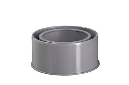 hwa verloopstuk 125x80mm grijs