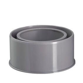 hwa verloopstuk 125x100mm grijs