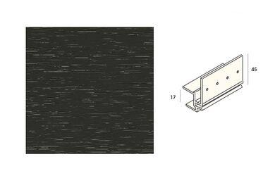 KERALIT 2877 Dakrandmontageprofiel 17mm Antraciet Classic Nerf 6000mm