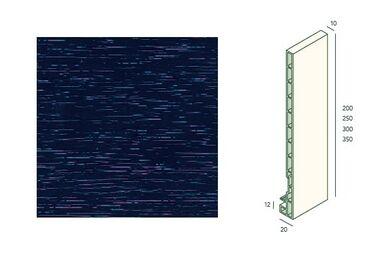 KERALIT 2831 Dakrandpaneel 300mm Staalblauw Classic Nerf 10x300x6000mm
