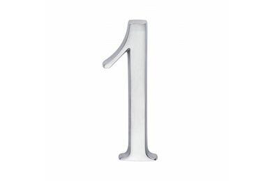 SKANTRAE Huisnummer Nr 1 Mat Chroom