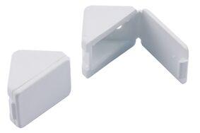 sx opboor paneelverbinder met klep wit (set van 2 stuks)