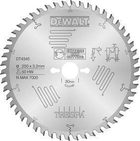 dewalt cirkelzaagblad trespa dt4345-qz 250/30
