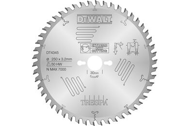 DEWALT Cirkelzaagblad DT1087 54-tands 165/20mm