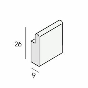 unipanel sponningplug 2460 wit 25mm (set van 10 stuks)