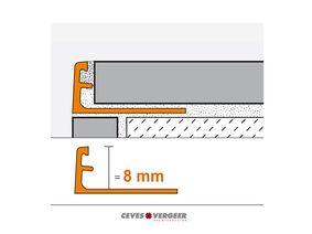schluter tegelprofiel aluminium recht 8x3000mm wit