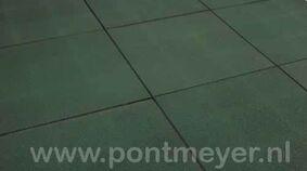 rubbertegel groen 25x500x500