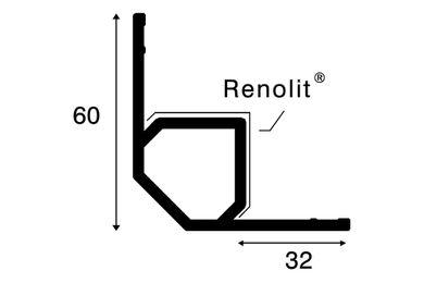KERALIT 2827 Inwendig Hoekprofiel Basaltgrijs Classic Nerf 4000mm