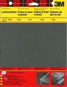 3m schuurvel wet or dry p240 zwart (set van 4 stuks)