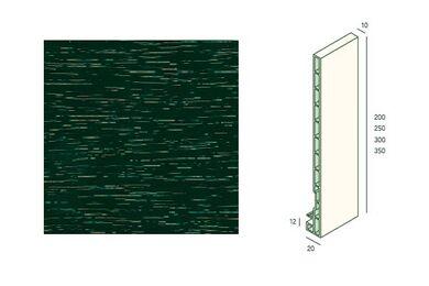 KERALIT 2835 Dakrandpaneel 350mm Donkergroen Classic Nerf 10x350x6000mm