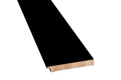 Q-Pine Plint Voorgelakt Zwart RAL 9011 FSC 15x120x4800mm