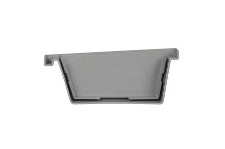 bakgoot einddeksel links 180mm grijs