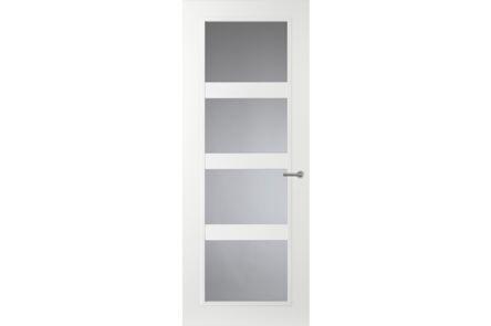 comfidoor lijndeur nora helder veiligheidsglas zuiver wit afgelakt opdek links kastslot fsc mix 70% 880x2015