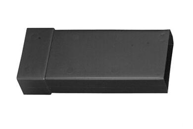 UBBINK Vloerventilatiekoker Verlengstuk Horizontaal Zwart 200mm