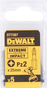 dewalt impact 25mm pz2 dt7387-qz (set van 5 stuks)