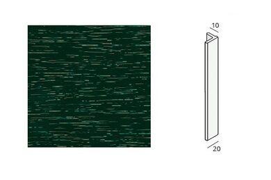 KERALIT Eindprofiel 10 mm Donkergroen RAL 6009 Classic Nerf