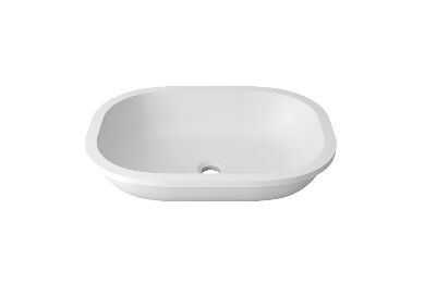 Krion Solid Surface Spoelbak B812 On Top Snow White 526x386x240mm
