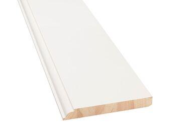 Plint Luxe QP12 Q-Pine Grenen wit Afgelakt FSC 18x140x4800mm