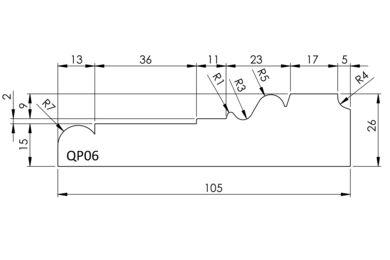 Architraaf QP06 Q-Pine Grenen FSC 26x105x4800mm