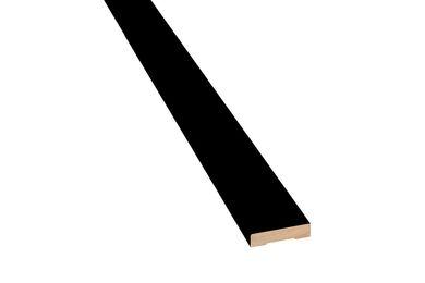Q-Pine Koplat Recht Voorgelakt Zwart RAL 9011 FSC 12x70x2700mm