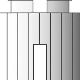 tule pvc kraanknop (set van 2 stuks)