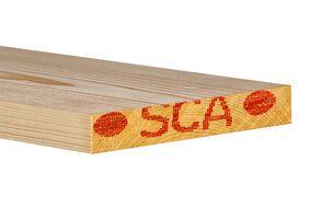 Vuren C Plank Geschaafd 4 rechte hoeken FSC mix 70% 32x200x3300mm