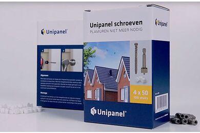UNIPANEL Schroef met Afdichtingsdopjes Platte kop 4x50mm