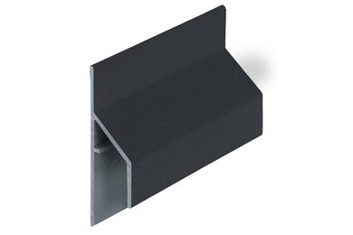 KERALIT 2810 Trim/Kraal Aansluitprofiel 17mm Zwartgrijs Classic Nerf 6000mm
