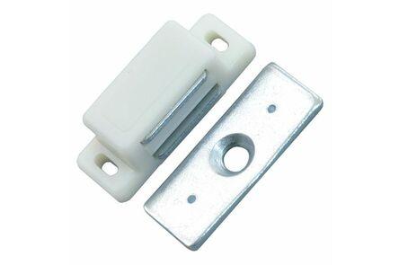 magneetslot 35mm wit 3kg (set van 4 stuks)